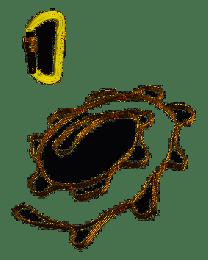 Fettuccia e moschettone kong