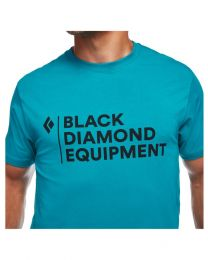 Black Diamond stacked logo tee