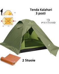 Kit Ferrino Tenda Kalahari 3 posti + 2 stuoie