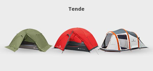 Immagine di tre tende per il campeggio
