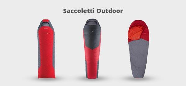 Immagine di tre saccoletti per l'outdoor