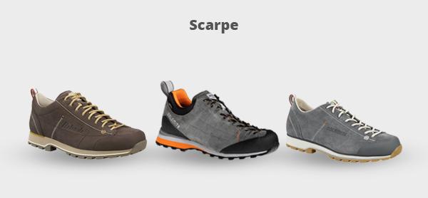 Immagine di tre scarpe per l'outdoor