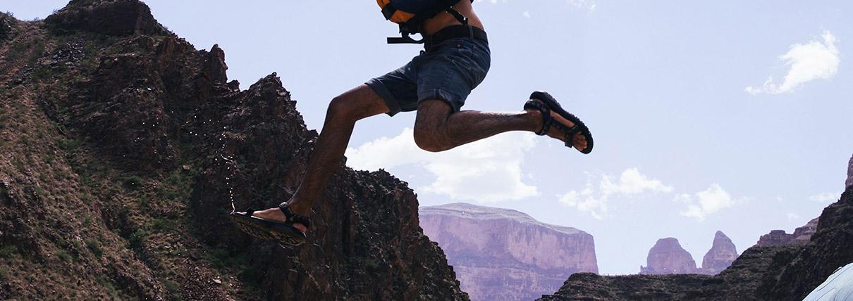 Persona che salta
